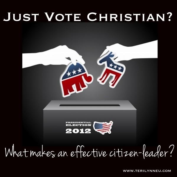 Just Vote Christian www.terilynneunderwood.com