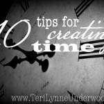 creating time www.terilynneunderwood.com