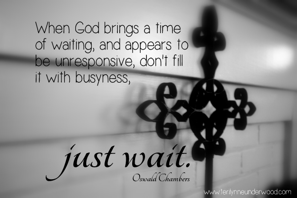 a time of waiting www.terilynneunderwood.com