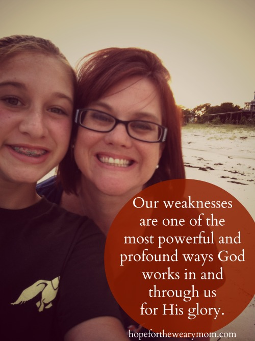 truth about weakness || hope for the weary mom || www.terilynneunderrwood.com/blog