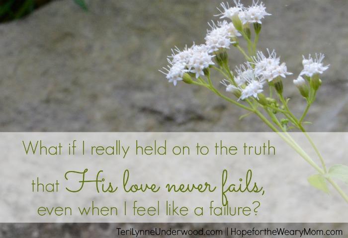 Love Never Fails    TeriLynneUnderwood.com