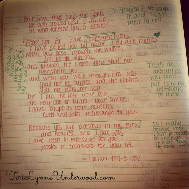 Isaiah 43:1-4 || TeriLynneUnderwood.com