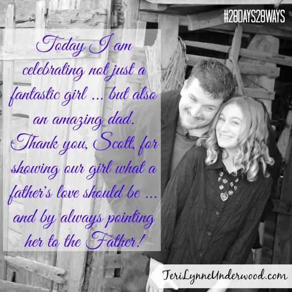 Celebrate his role as dad || Teri Lynne Underwood