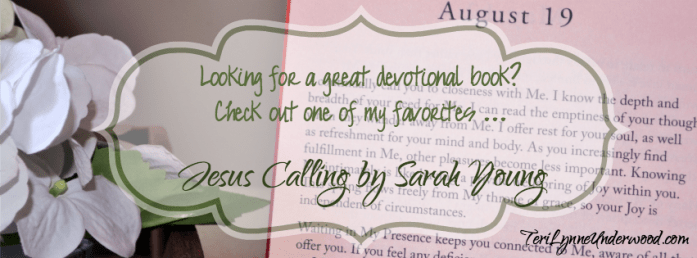 Check out one of my favorite devotionals - Jesus Calling bySarah Young