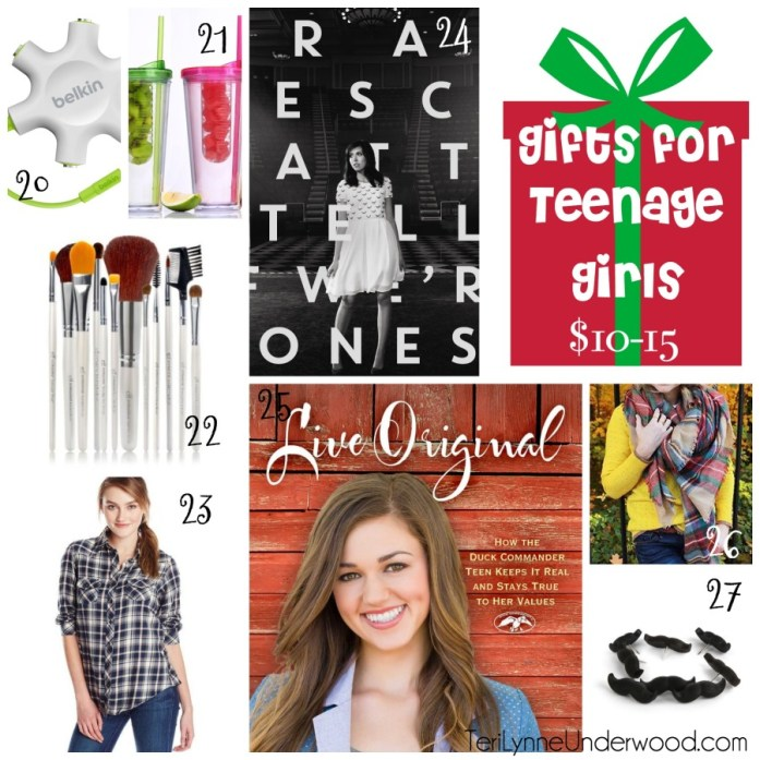 gift ideas for teenage girls $10-15