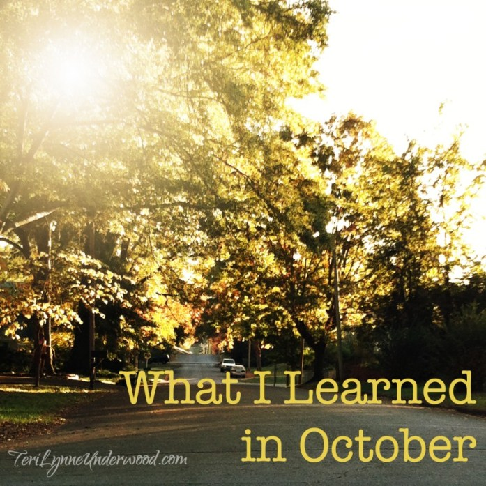 what I learned in October 2014
