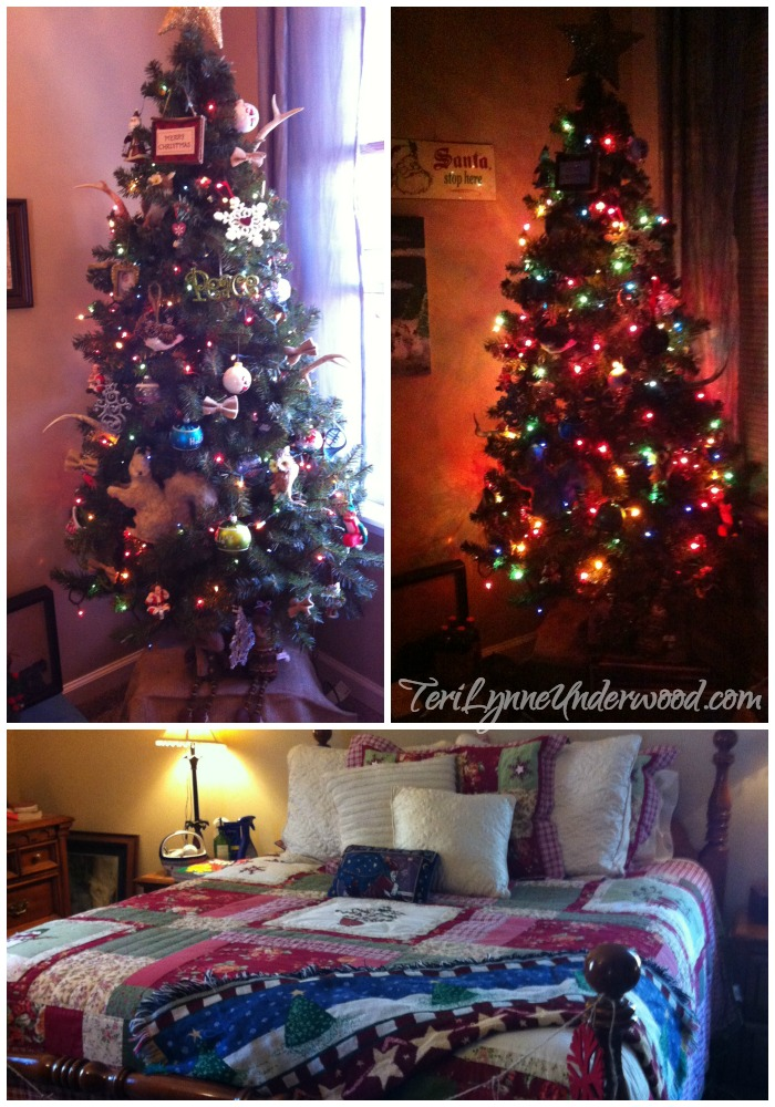 a Christmas tree in your bedroom? yes! absolutely!