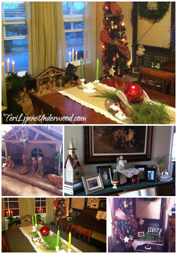 Fontanini nativity, favorite nativity ornaments, and vintage finds