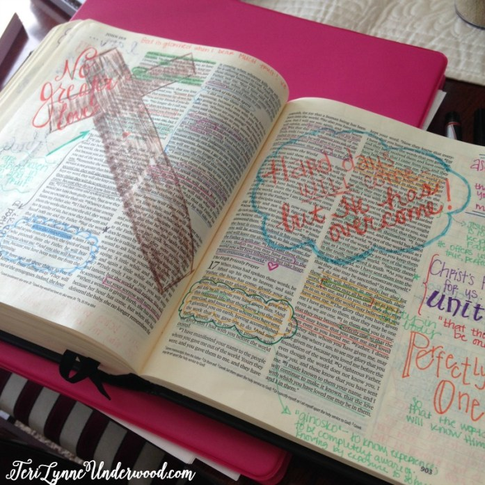 Using the journaling Bible has increased my intentionality during my quiet time.