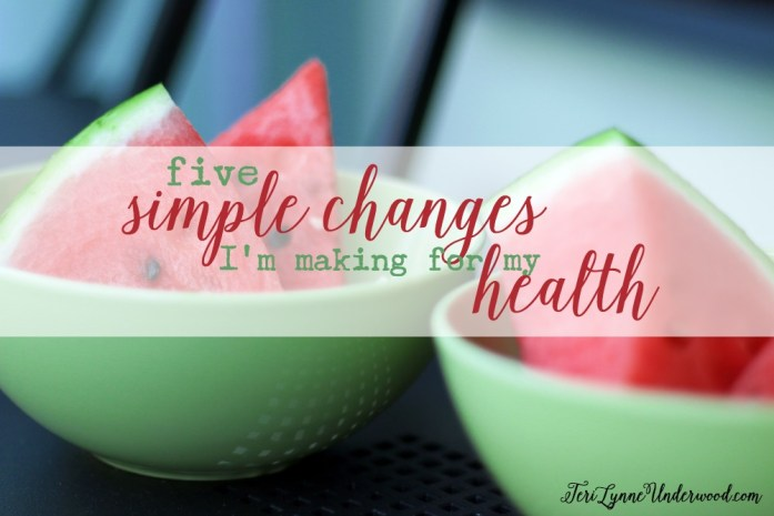 5 simple changes I'm making for my health