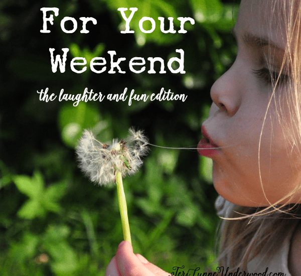 For Your Weekend {laughter and fun edition}