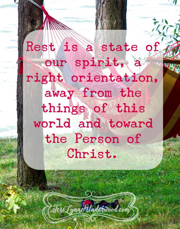 Understanding the truth about what rest really is, a state of our spirit, a right orientation.