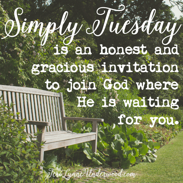 Simply Tuesday is an invitation to join God where He is waiting for you.