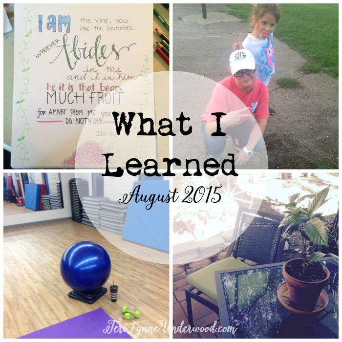 What I Learned in August 2015