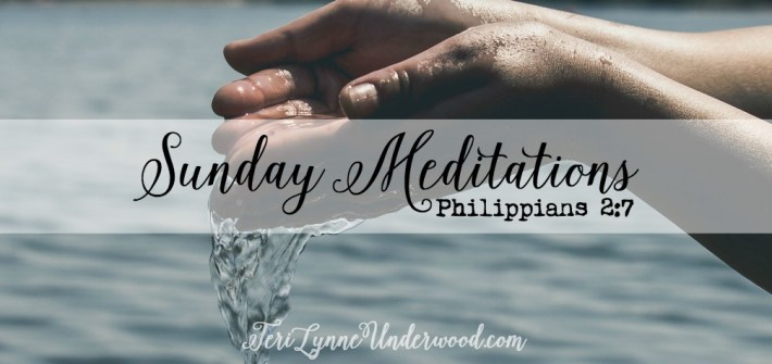 Sunday Meditation based on Philippians 2:7