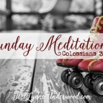 Sunday Meditations || Colossians 3:17 {STAND OUT: 7 traits of a counter cultural life}
