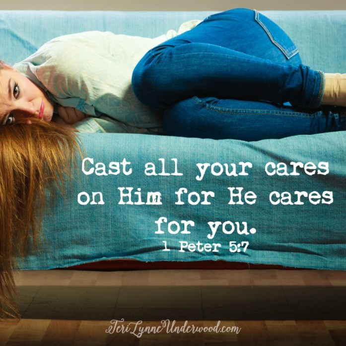 We can bring our burdens to Him because we know He truly cares for us.