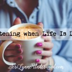 Listening when life is loud .... 3 steps to pay attention to the Lord when your world is spinning