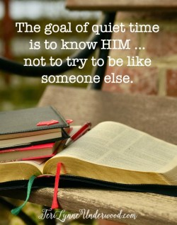 the goal of a quiet time