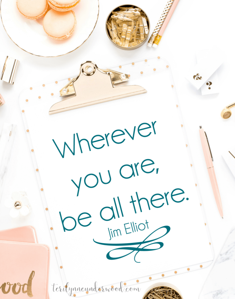 Be where you are! Lopsided Living challenges us to be fully present in our lives every day.