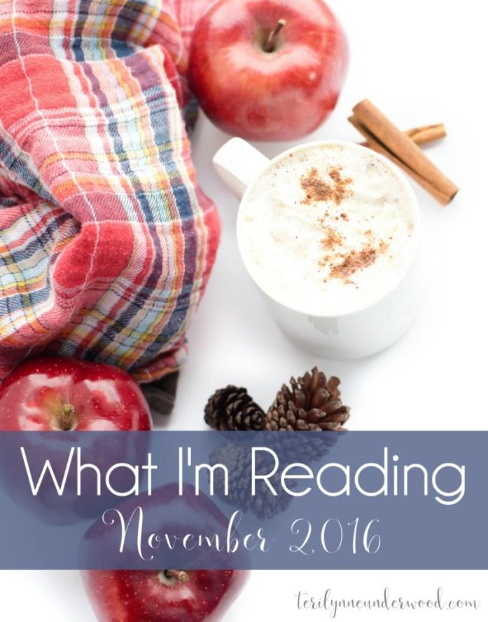 What I'm Reading || November 2016 ... books from Ann Voskamp, Lisa Whittle, Jennifer Rothschild, and more.