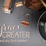 """In """"Grace Is Greater,"""" Kyle Idleman's forthright discussion of forgiveness, gratitude, redemption, surrender, and more offer those of us who want to walk in the fullness of God's grace a path to understanding not only what this means but also what it looks like."""