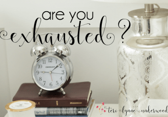 Are You Exhausted? {the why and how of a day of rest}