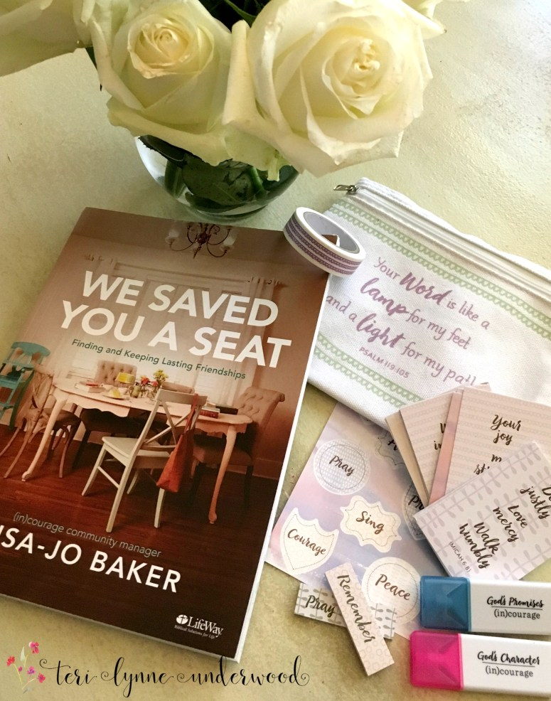 """Ever felt lonely or want to make sure others don't, """"We've Saved You a Seat"""" by Lisa-Jo Baker is for you! New Bible study & study kit available."""