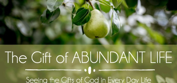 Spend October seeing the gifts of God in every day life ... beginning with the gift of abundant life (John 10:10). #lopsidedliving