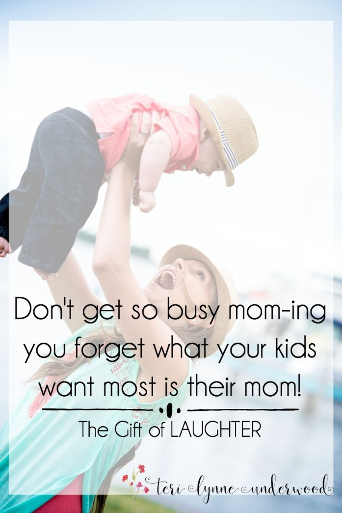 At the end of my days, it is the relationships I've nurtured not the schedules I've kept that matter.  Let's not get so busy we forget that what our kids want most isn't our mom-ing but their mom.