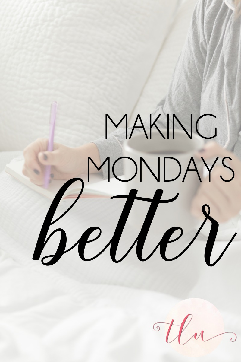 Ever wish you could have a cheerleader to help you kick your week off? You can! The WEEKLY THREE email will give you tips, resources, and encouragement for Lopsided Living — and is just one step toward making Mondays better!