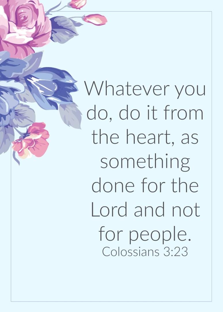Colossians 3:23 printable