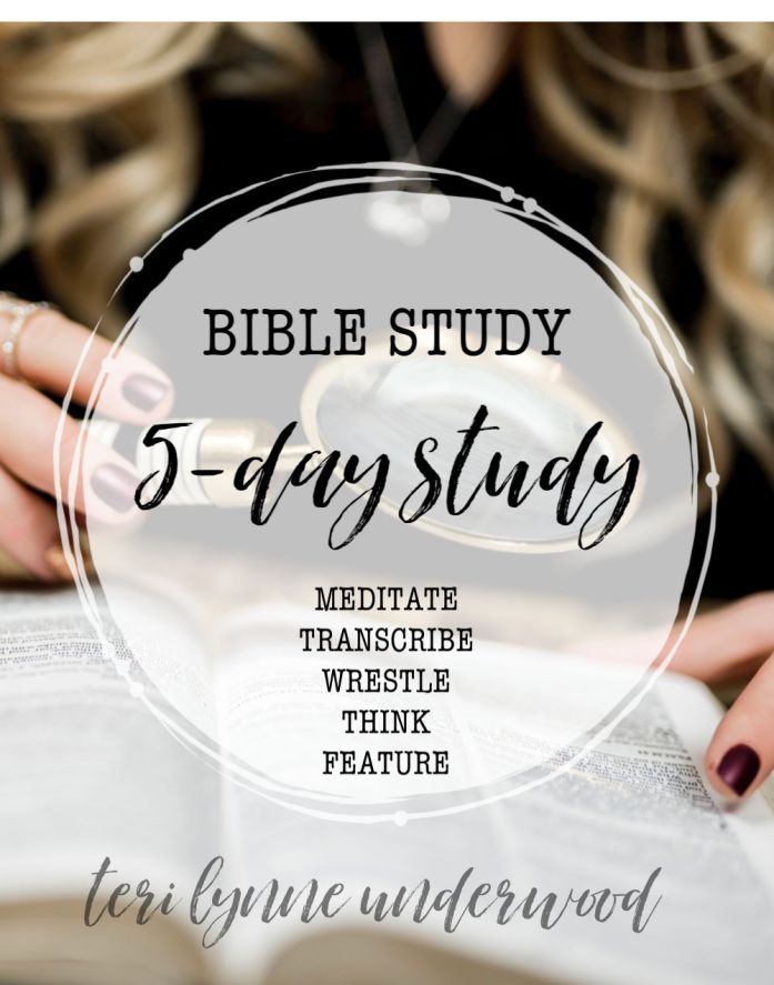Bible Study — 5-Day Study Method  Using this simple method, you read the same passage for five days focusing on a different type of study each day. Doing this helps you gain a deeper grasp of the passage and helps clarify what it says and means.