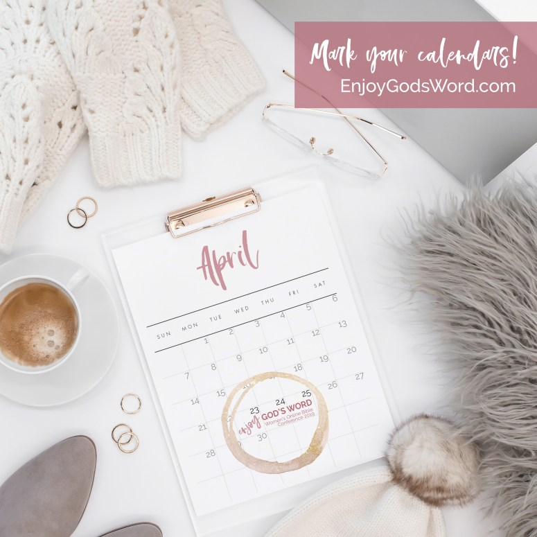 Enjoy God's Word online Bible conference for women April 23-25, 2019 info at bit.ly/EGW2019