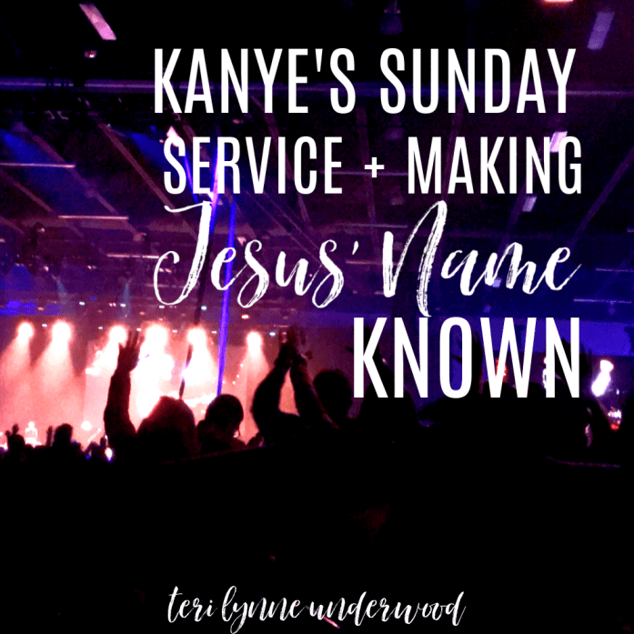 Experiencing Kanye's Sunday Service was a reminder to me about keeping my focus on Jesus and serving the people He has placed in front of me.
