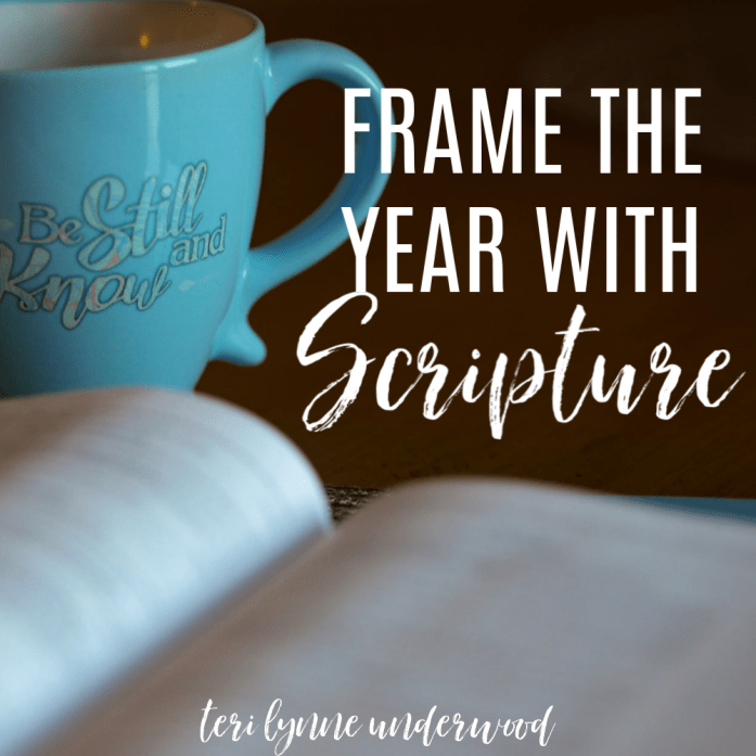 3 Reasons to Frame the Year with Scripture || As God reveals verses to us, it is often not for use in a linear way but more to build out a framework for how we will live for Him.