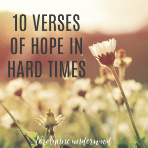 This is hard. And none of us was really prepared for how hard it would be. Here's what I'm finding, even when I don't FEEL hope, I can KNOW hope. Because hope isn't a feeling, hope is a Person. If you're struggling, lean into Jesus.