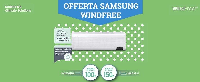 Offerta condizionatori Samsung Windfree