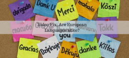 Video Fix: Is Europe actually full of just one kind of language?