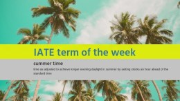 IATE Term of the Week: Summer time