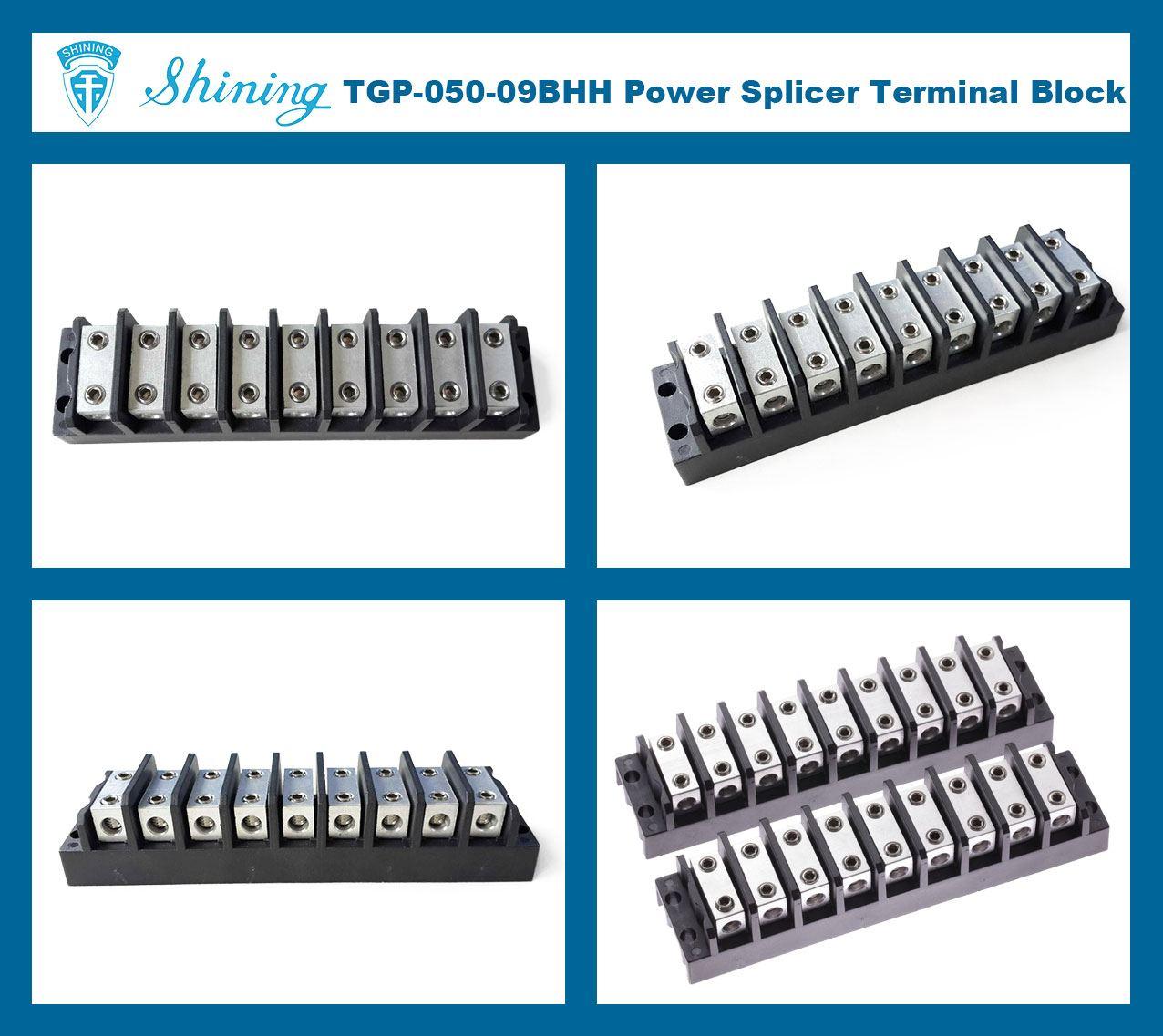 Shining E Amp E Tgp 050 09bhh 600v 50a 9 Way Power Splicer Terminal Block