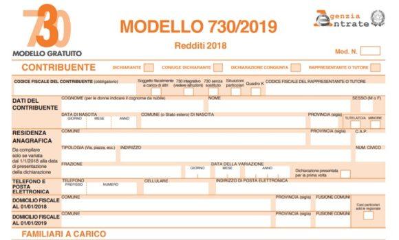 Modello 730 Precompilato 2019 Pdf Da Scaricare O Stampare