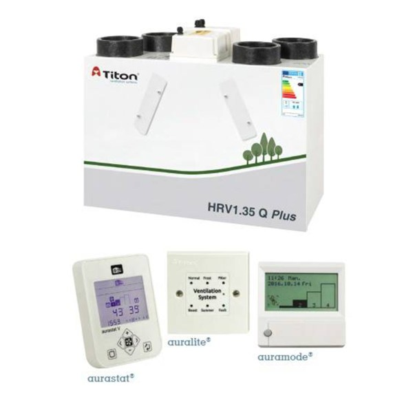Rekuperatorius TITON HRV1.35 Q Plus BC Eco dešininis  • Termomisija.lt Oro kondicionieriai, šilumos siurbliai. Montavimas, prekyba, priežiūra