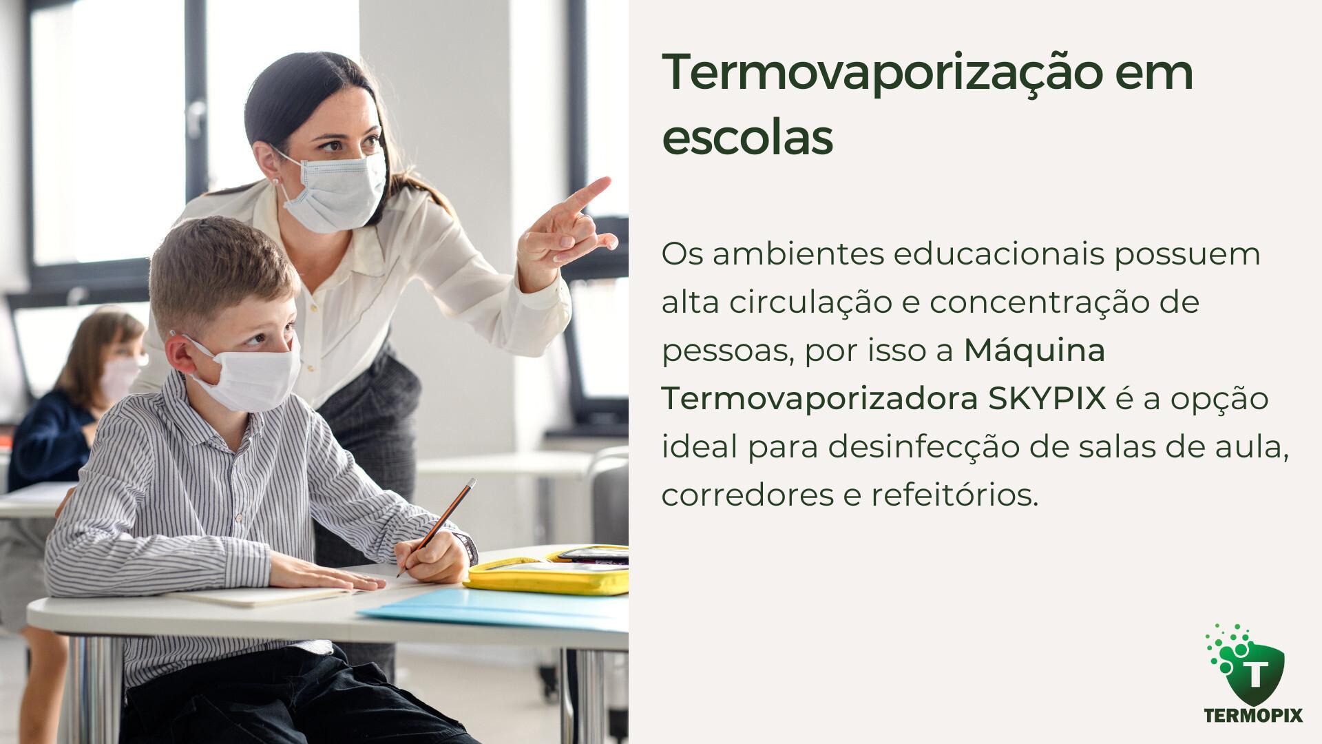Termopix - Desinfecção de Escolas - Termovaporização