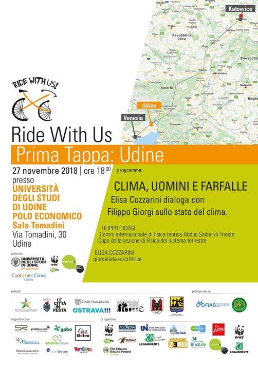 Locandina Ride With Us - Udine