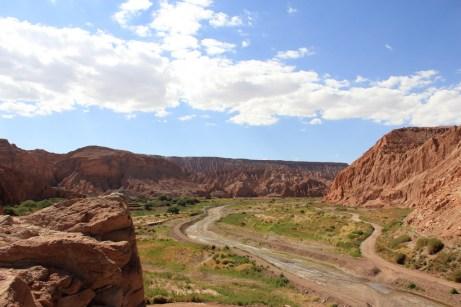 Vista para o vale e Cordilheira de sal
