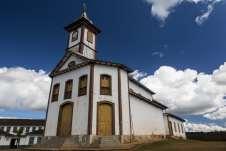Igreja na cidade histórica do Serro