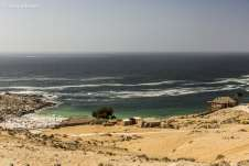 A primeira visão da Praia La Virgen