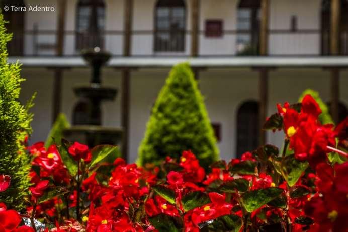 Os lindos jardins de Cuenca.