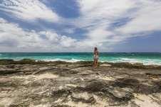 Com um pouco de paciência, encontramos lugares paradisíacos em Playa del Carmen